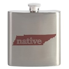 Red Native Flask