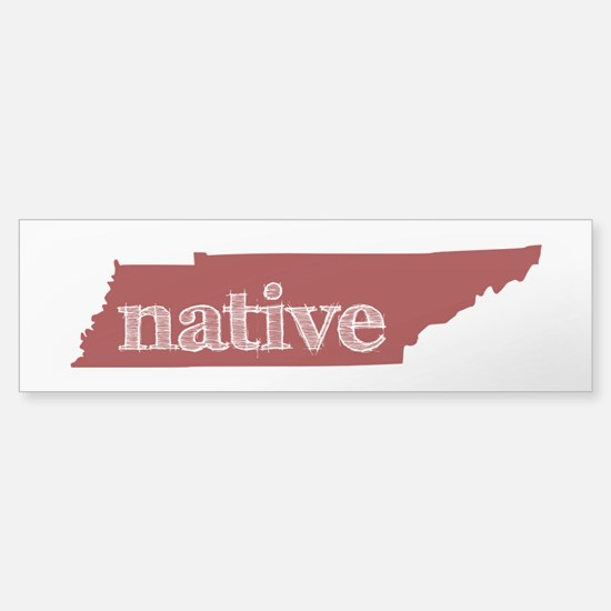 Red Native Sticker (Bumper)