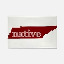 Red Native Rectangle Magnet
