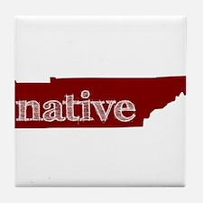 Red Native Tile Coaster