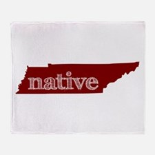 Red Native Throw Blanket