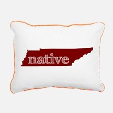 Red Native Rectangular Canvas Pillow