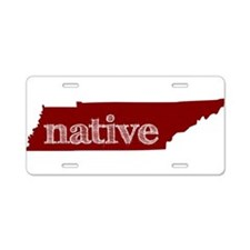 Red Native Aluminum License Plate