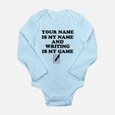 Custom Writing Is My Game Body Suit
