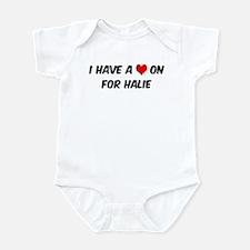 Heart on for Halie Infant Bodysuit
