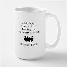 Civic Duty definition Mug