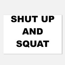SHUT UP AND SQUAT Postcards (Package of 8)