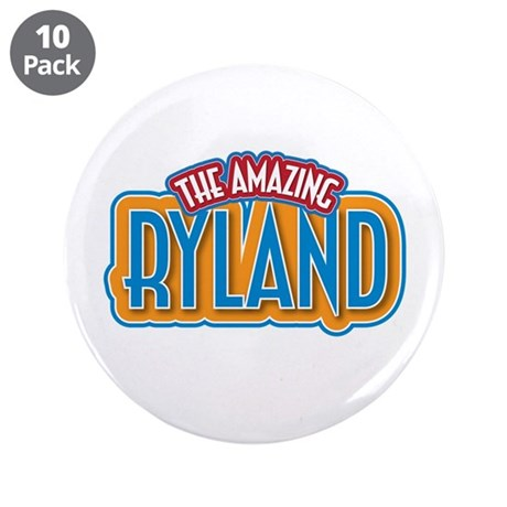 """The Amazing Ryland 3.5"""" Button (10 pack)"""