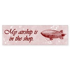 Steampunk Airship Bumper Stickers