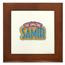 The Amazing Samir Framed Tile