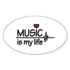 Music is my life heart Decal