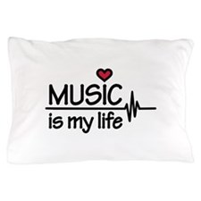 Music is my life heart Pillow Case