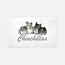 Chinchillas 3'x5' Area Rug