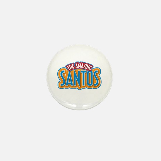 The Amazing Santos Mini Button