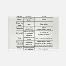 Baby instruction manual Rectangle Magnet