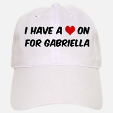 Heart on for Gabriella Baseball Baseball Cap