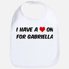 Heart on for Gabriella Bib