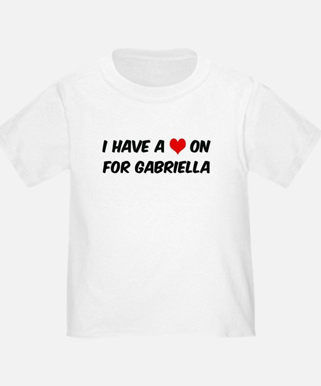 Heart on for Gabriella T