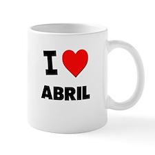 I love Abril Small Mug