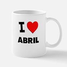 I love Abril Small Small Mug