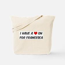 Heart on for Francesca Tote Bag