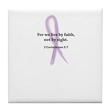 live by faith....lupus Tile Coaster