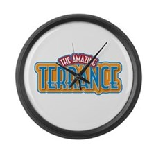 The Amazing Terrance Large Wall Clock