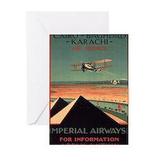 Imperial Airways, Vintage Poster Greeting Card