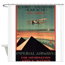 Imperial Airways, Vintage Poster Shower Curtain