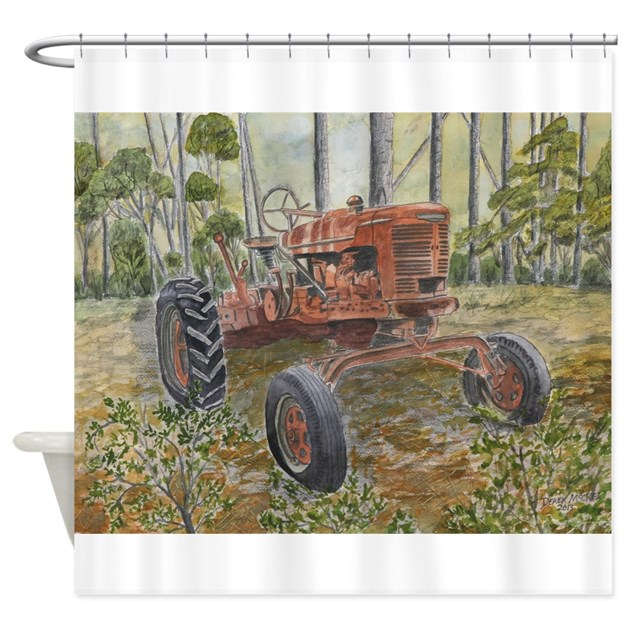 Tractor Shower Curtain : Old farm tractor painting shower curtain by tractorpaintings