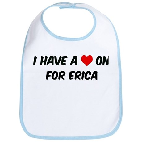 Heart on for Erica Bib