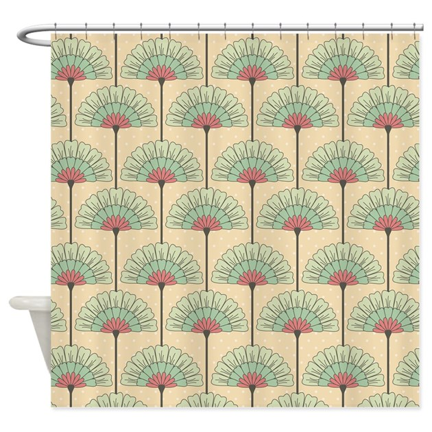 Vintage Art Deco Abstract Shower Curtain By Nature_tees