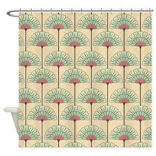 Vintage Art Deco Abstract Shower Curtain
