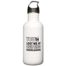 Hardcore Cheerleading designs Water Bottle