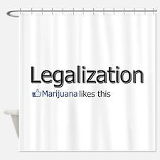 Legalization. Marijuana likes this Shower Curtain