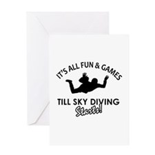 Sky Diving enthusiast designs Greeting Card