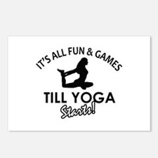 Yoga enthusiast designs Postcards (Package of 8)