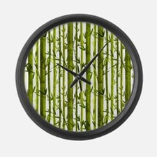 Bamboo Lessons Large Wall Clock