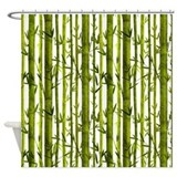 Bamboo pattern Shower Curtains