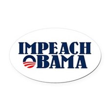 Impeach Obama Oval Car Magnet