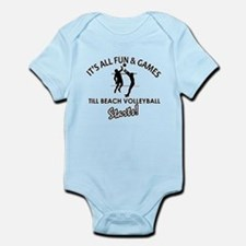 Beach Volleyball enthusiast designs Infant Bodysui