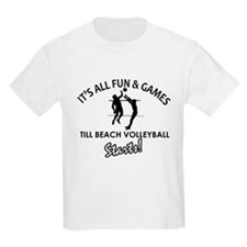 Beach Volleyball enthusiast designs T-Shirt