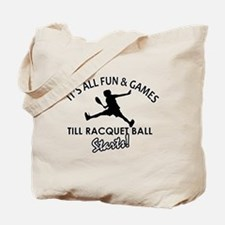 Racquetball enthusiast designs Tote Bag
