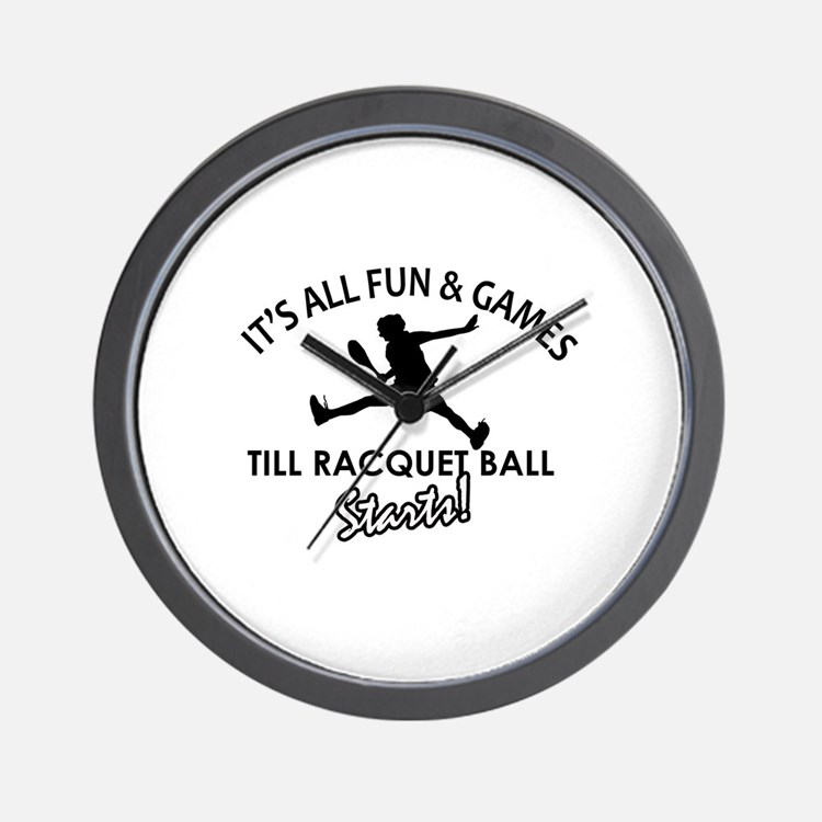 Racquetball enthusiast designs Wall Clock