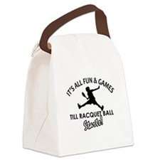 Racquetball enthusiast designs Canvas Lunch Bag