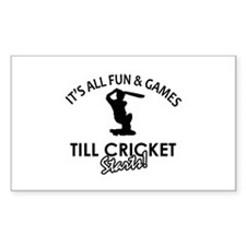 Cricket enthusiast designs Decal