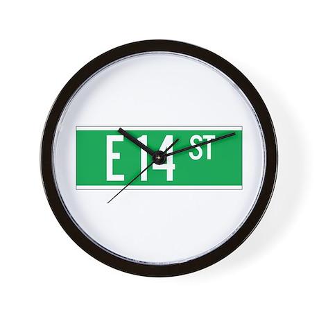E 14 St., New York - USA Wall Clock
