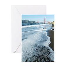 Golden Gate From Baker Beach Vertical Greeting Car