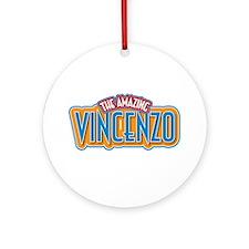 The Amazing Vincenzo Ornament (Round)