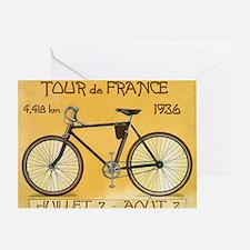 Tour de France, Bicycle, Vintage Poster Greeting C